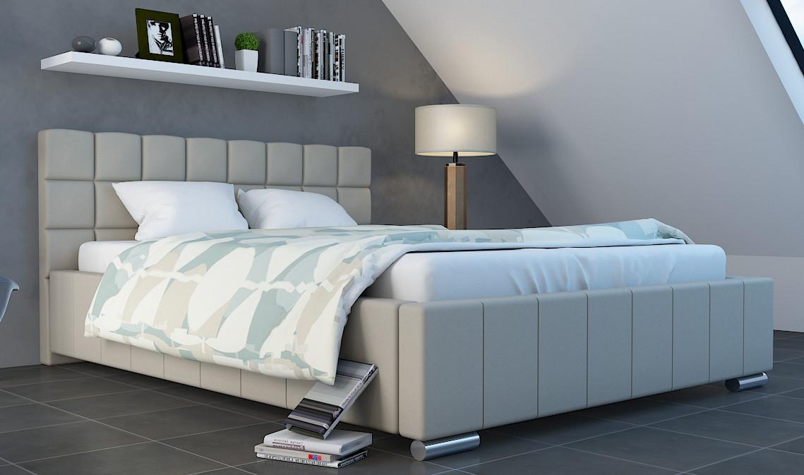 łóżko Tapicerowane 180x200 Ze Stelażem Pojemnikiem