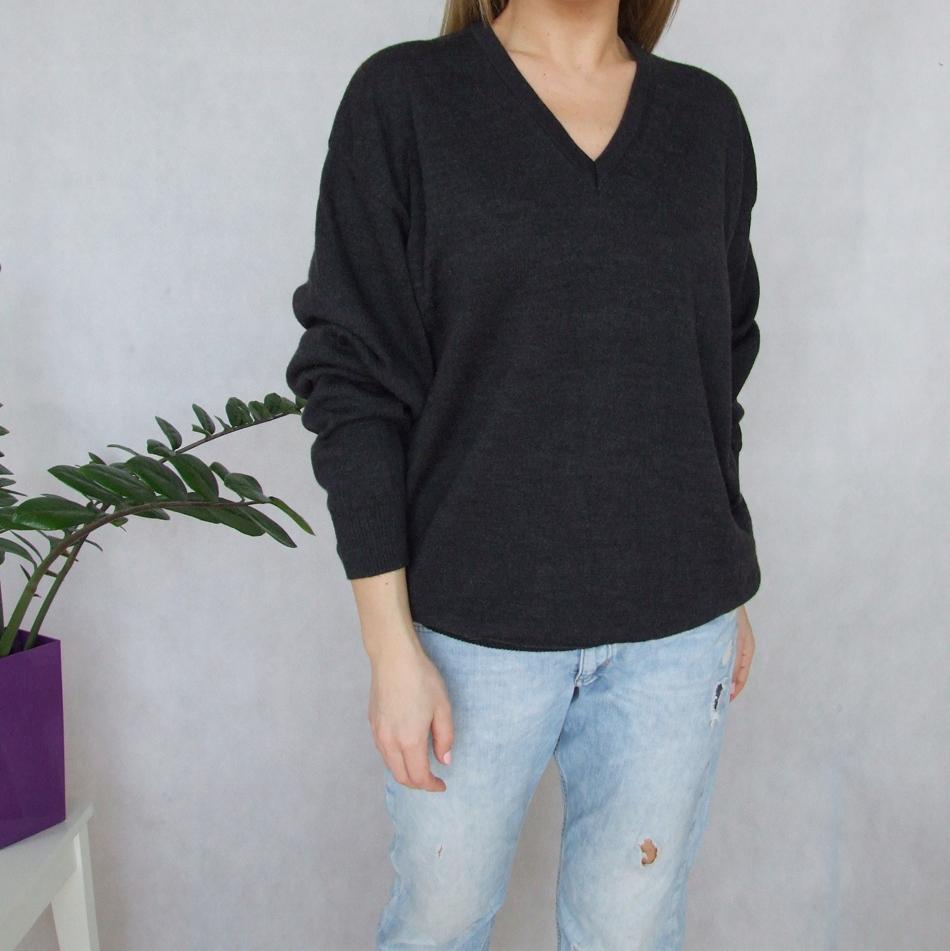 MARZ sweter oversize Merino Woll Wełniany szary