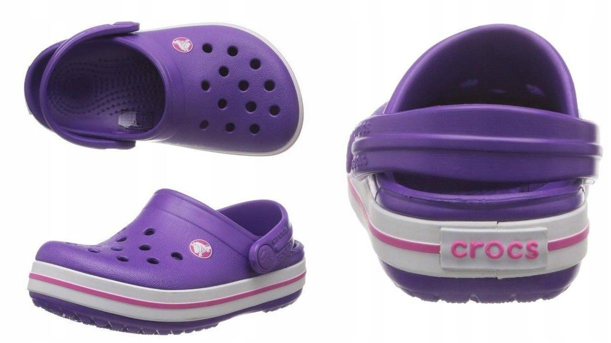 Crocs Crocband Neon Purple Fioletowe 32-33 J1