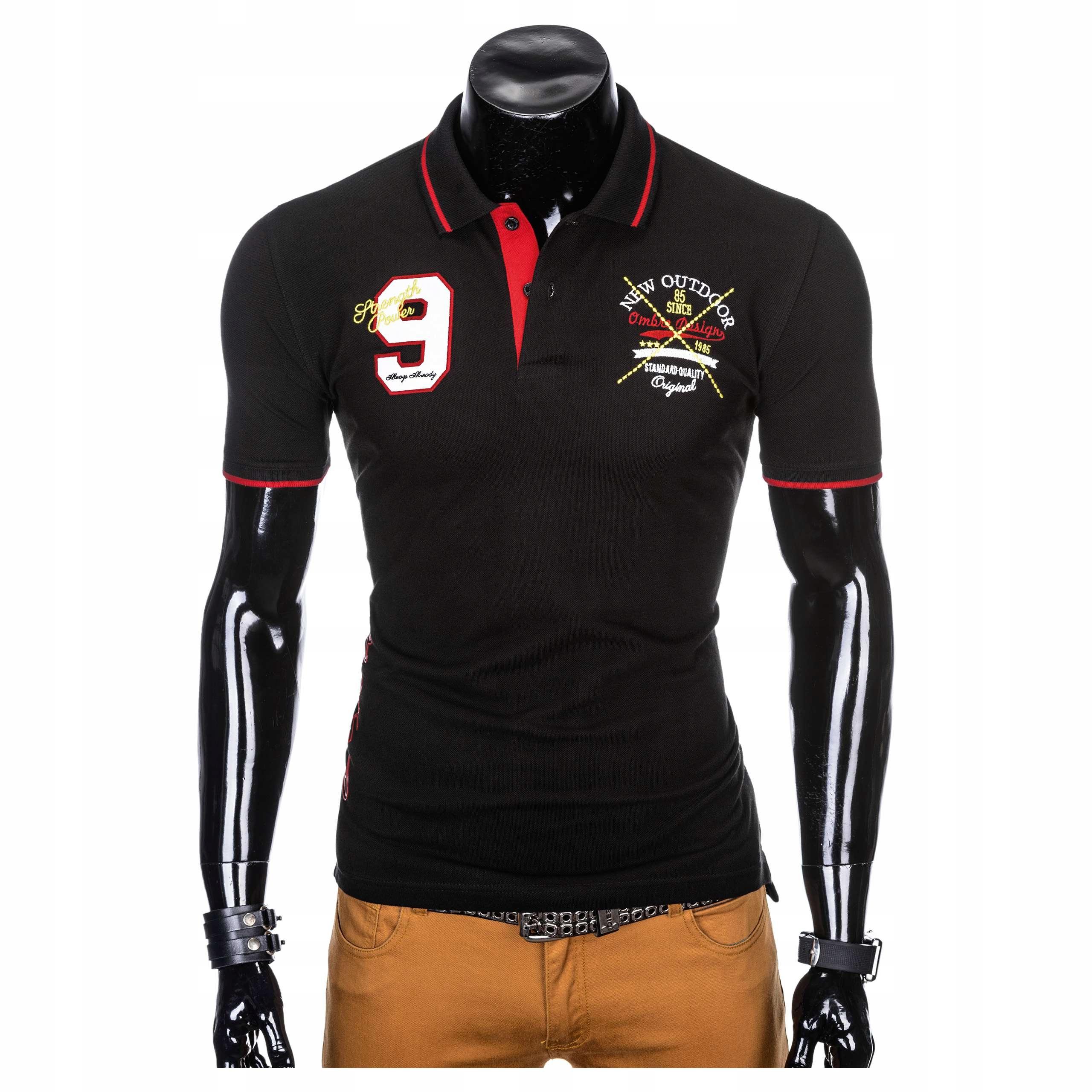 Koszulka polo z krótkim rękawem S908 czarna XXL