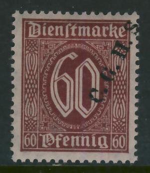 Niemcy 60 pf. / C.G.H.S. nadruk