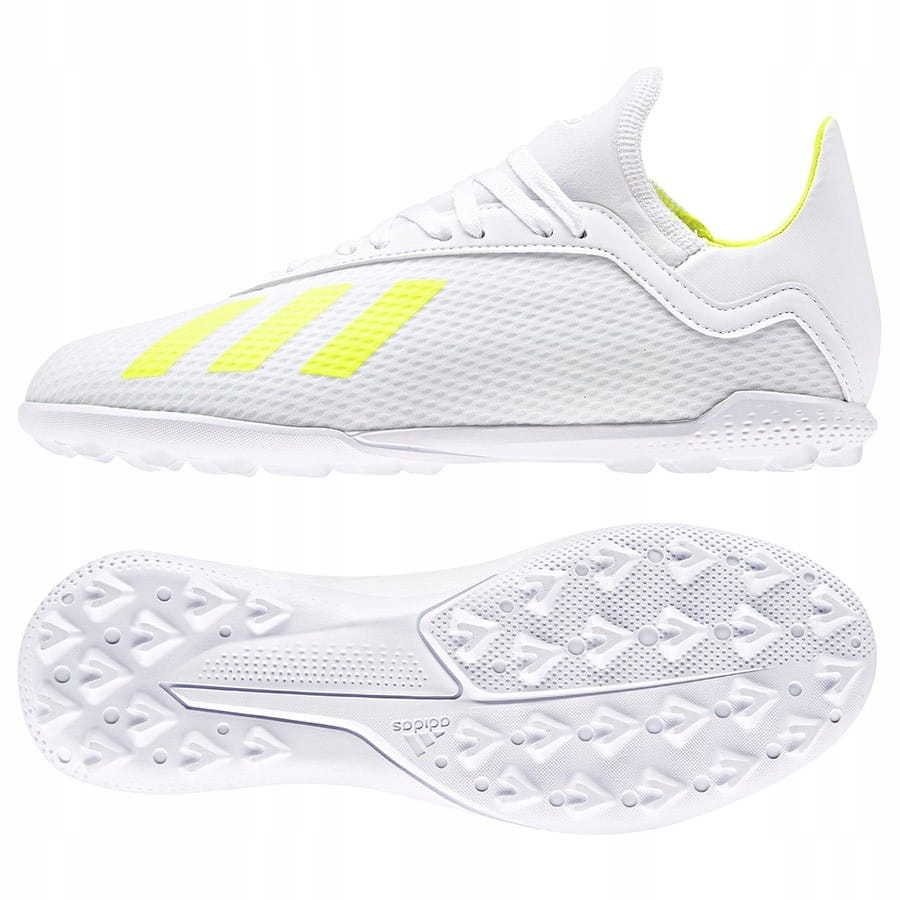 Buty adidas X 18.3 TF J BB9404 - BIAŁY; 38 2/3