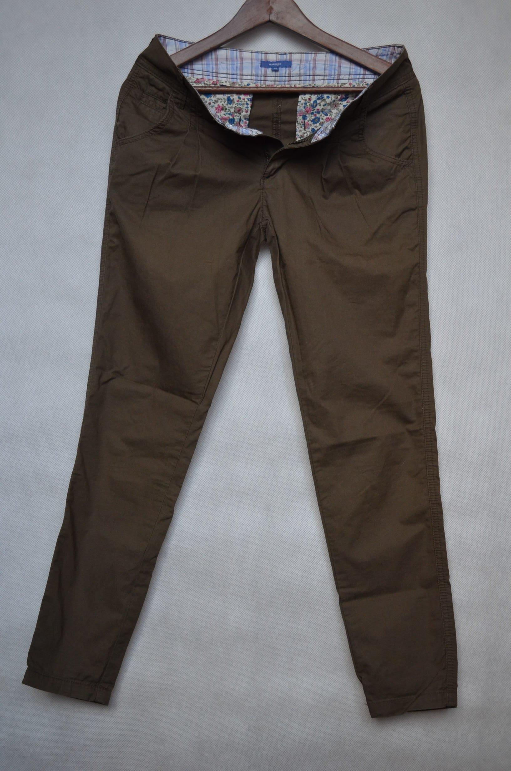 5d49204476d19 spodnie rurki khaki Montego 36S - 7215572071 - oficjalne archiwum allegro