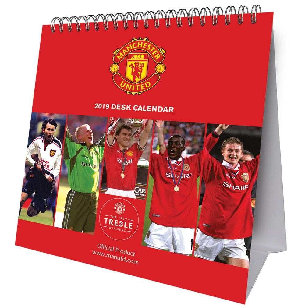 Manchester United - kalendarz biurkowy 2019!