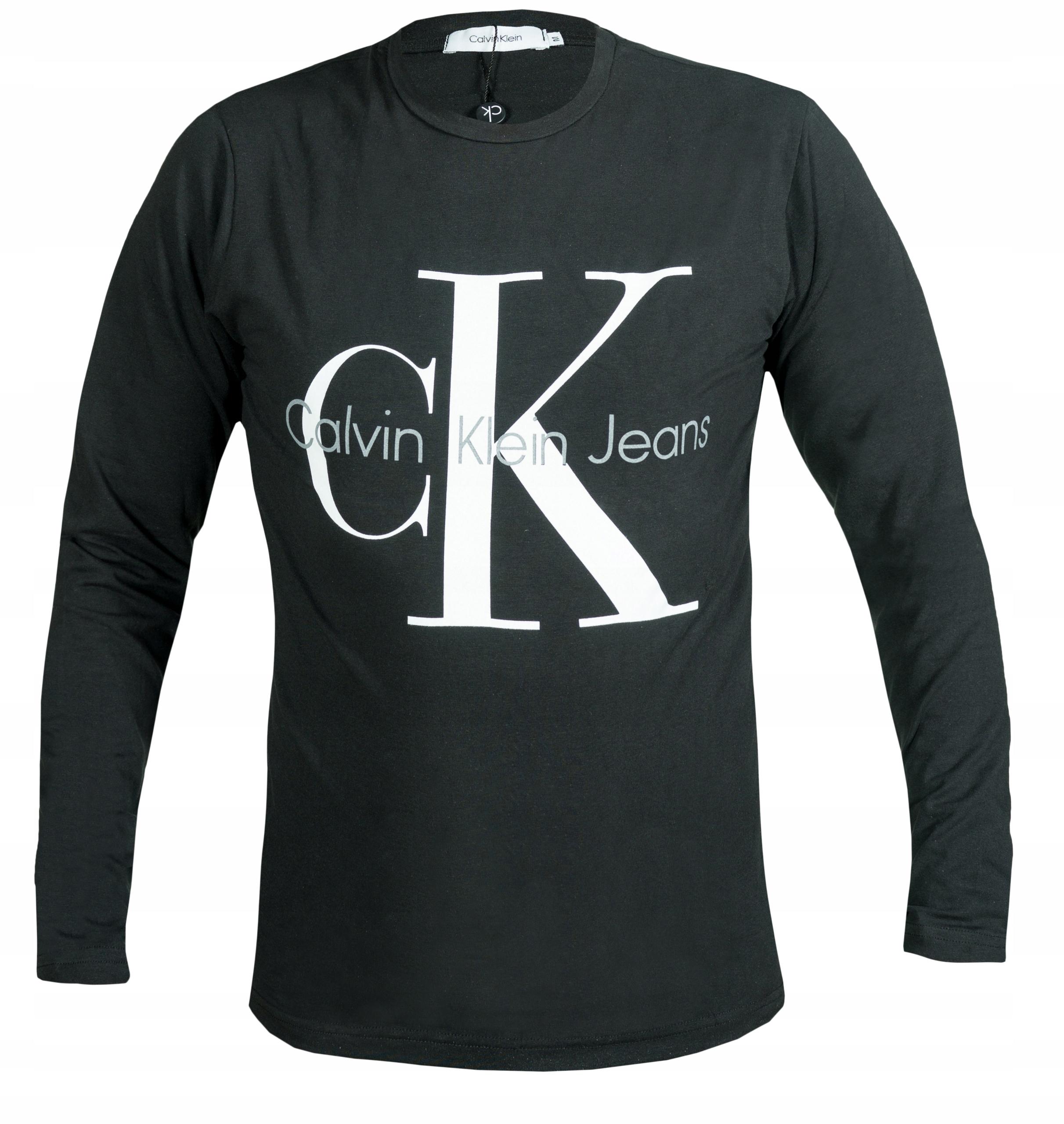 CALVIN KLEIN LONGSLEEVE MĘSKI CZARNY CK logo L