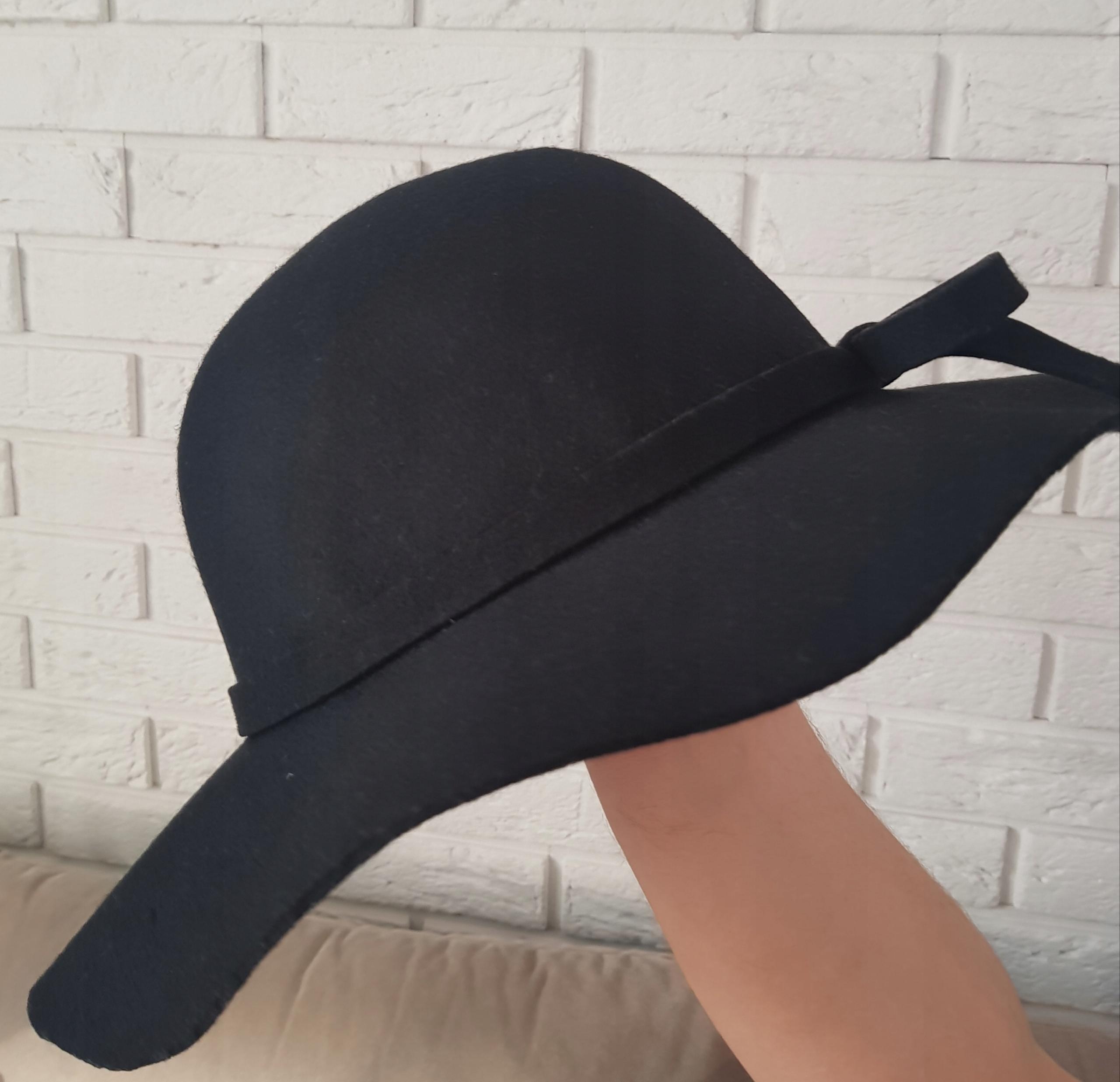 RESERVED kapelusz damski filc czarny