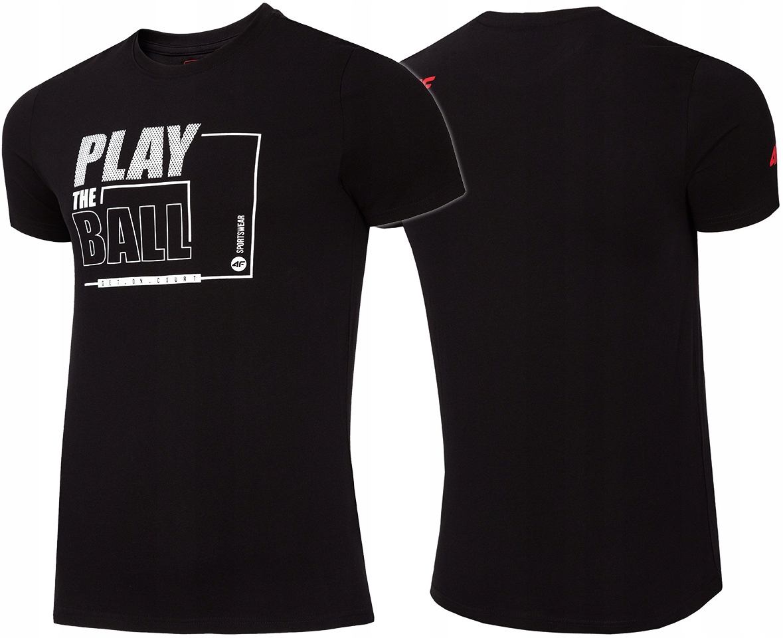 4F T-shirt Męski KOSZULKA L19 TSM004 Czarna M