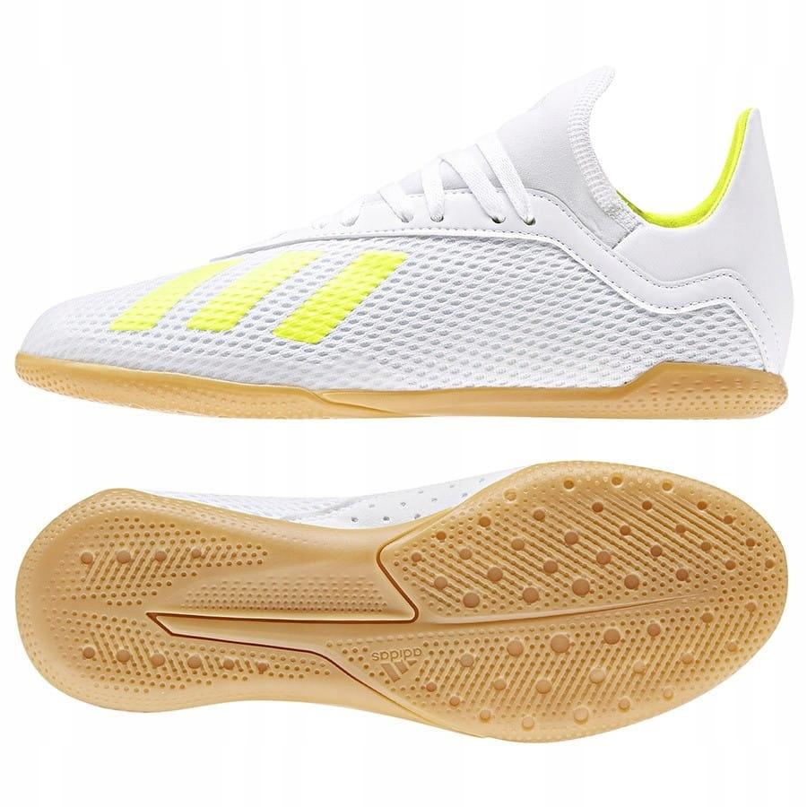 Buty adidas X 18.3 IN J BB9397 - BIAŁY; 38