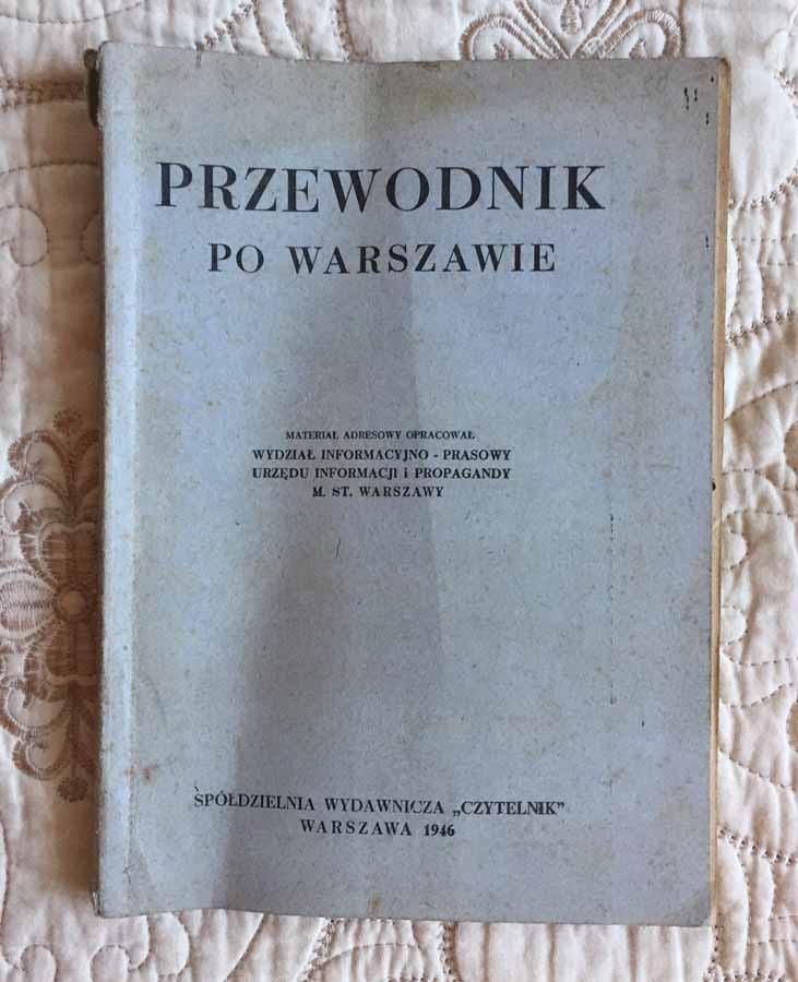 PRZEWODNIK PO WARSZAWIE 1946 ANTYK