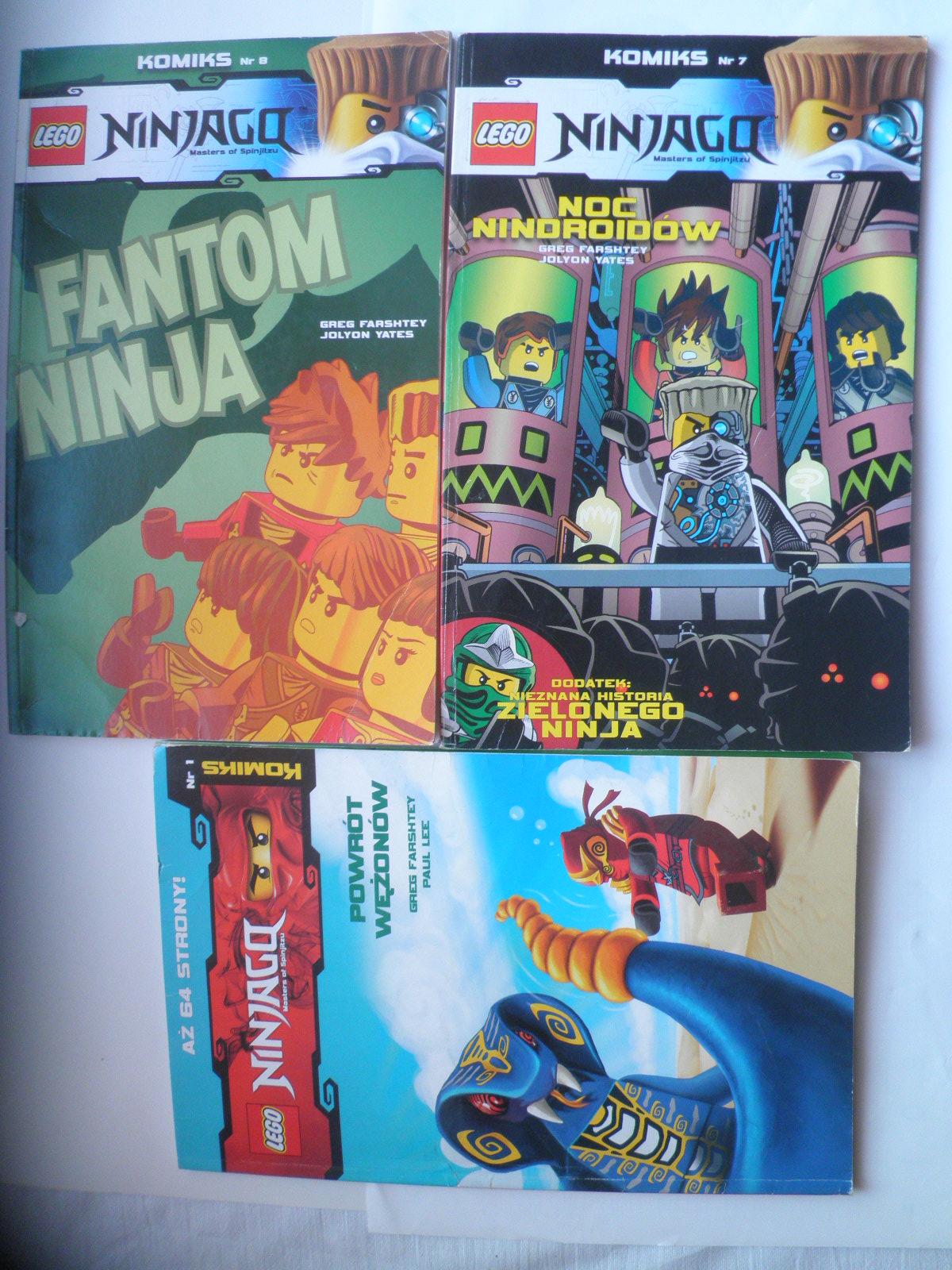 NINJAGO LEGO FANTOM POWRÓT WIĘŹNIÓW KOMIKS 4 sztuk