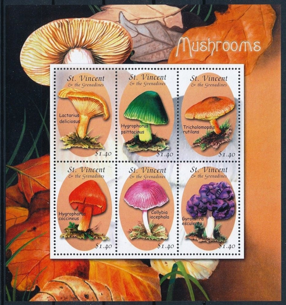ST. VINCENT GRENADINES - GRZYBY - 2001r. - MNH(**)