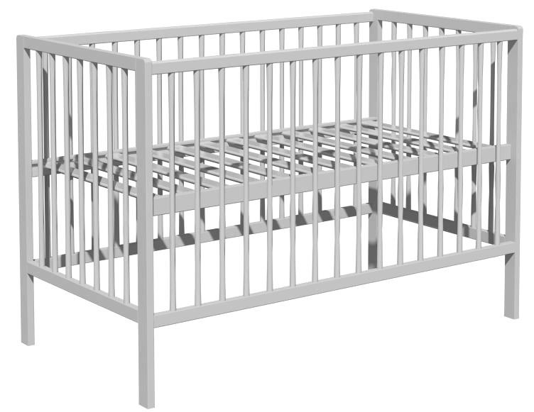 Łóżeczko dziecięce DOMINIK 120x60cm szary