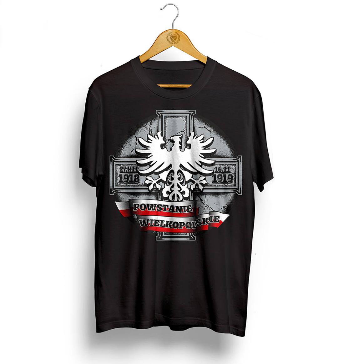 10ca63491 koszulka patriota POWSTANIE WIELKOPOLSKIE roz. M - 7534739735 ...