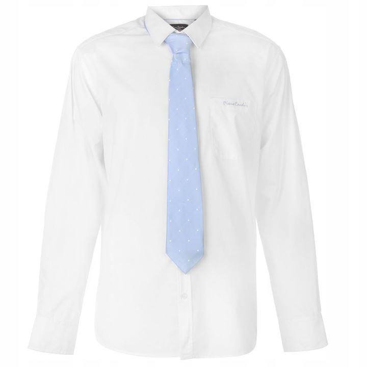 E859 Pierre Cardin KOSZULA męska + krawat M