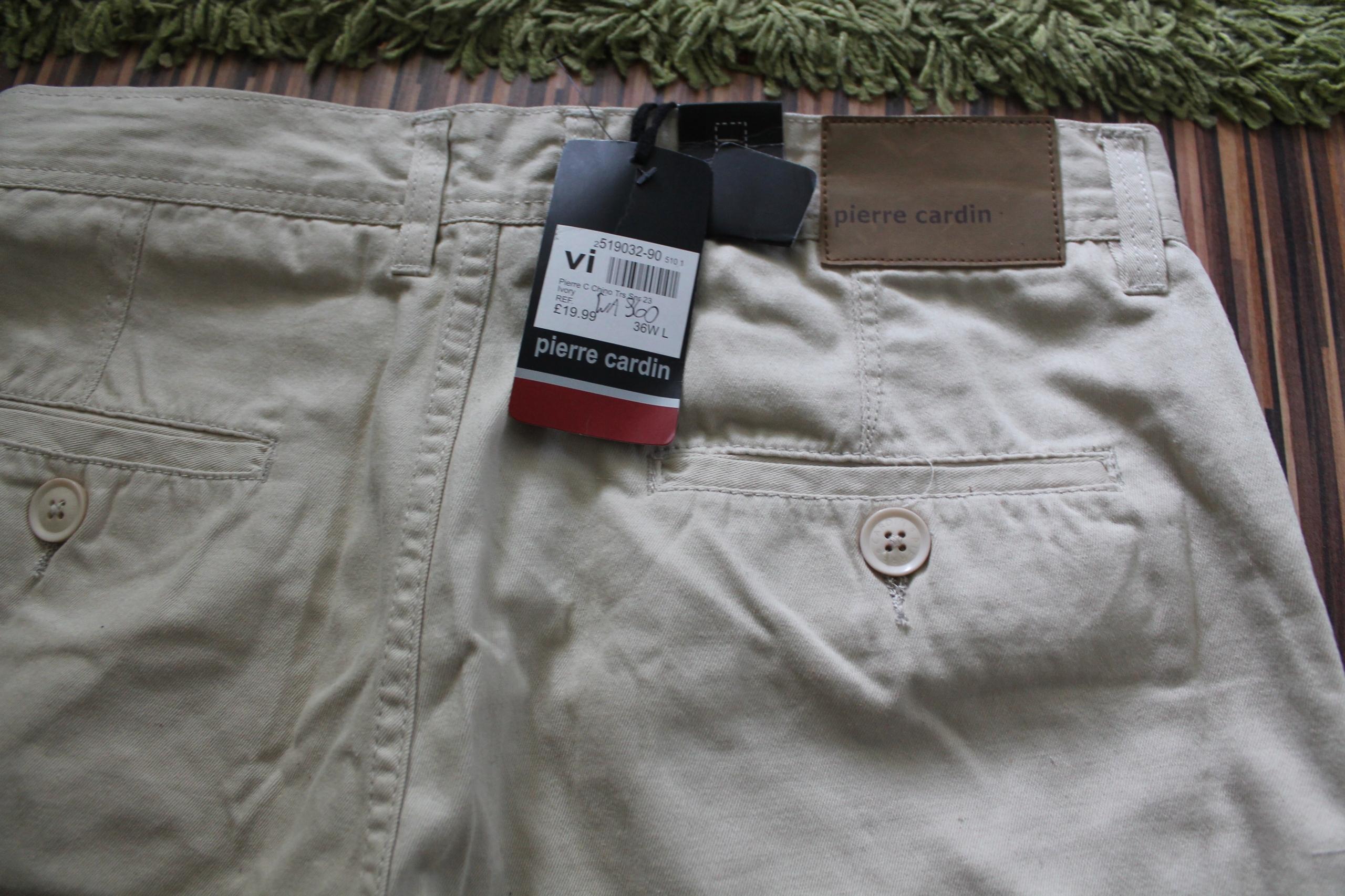 nowe spodnie chino pierre cardin 36W L
