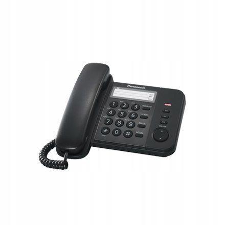 Panasonic Corded KX-TS520FXB Black, 518 g, 19.6 x