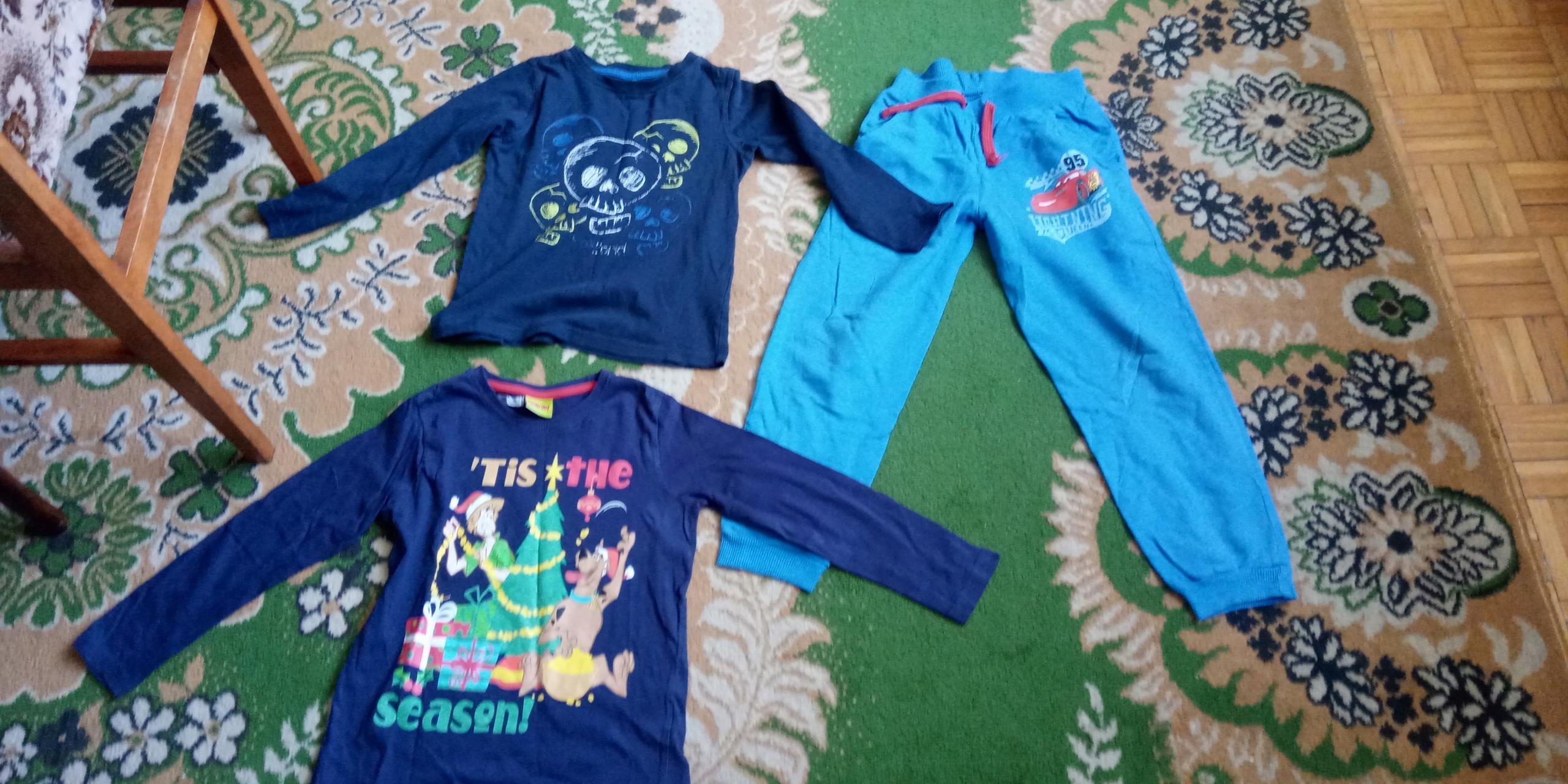Disney zestaw 3 ubrań r. 116 chłopak 5-6 lat