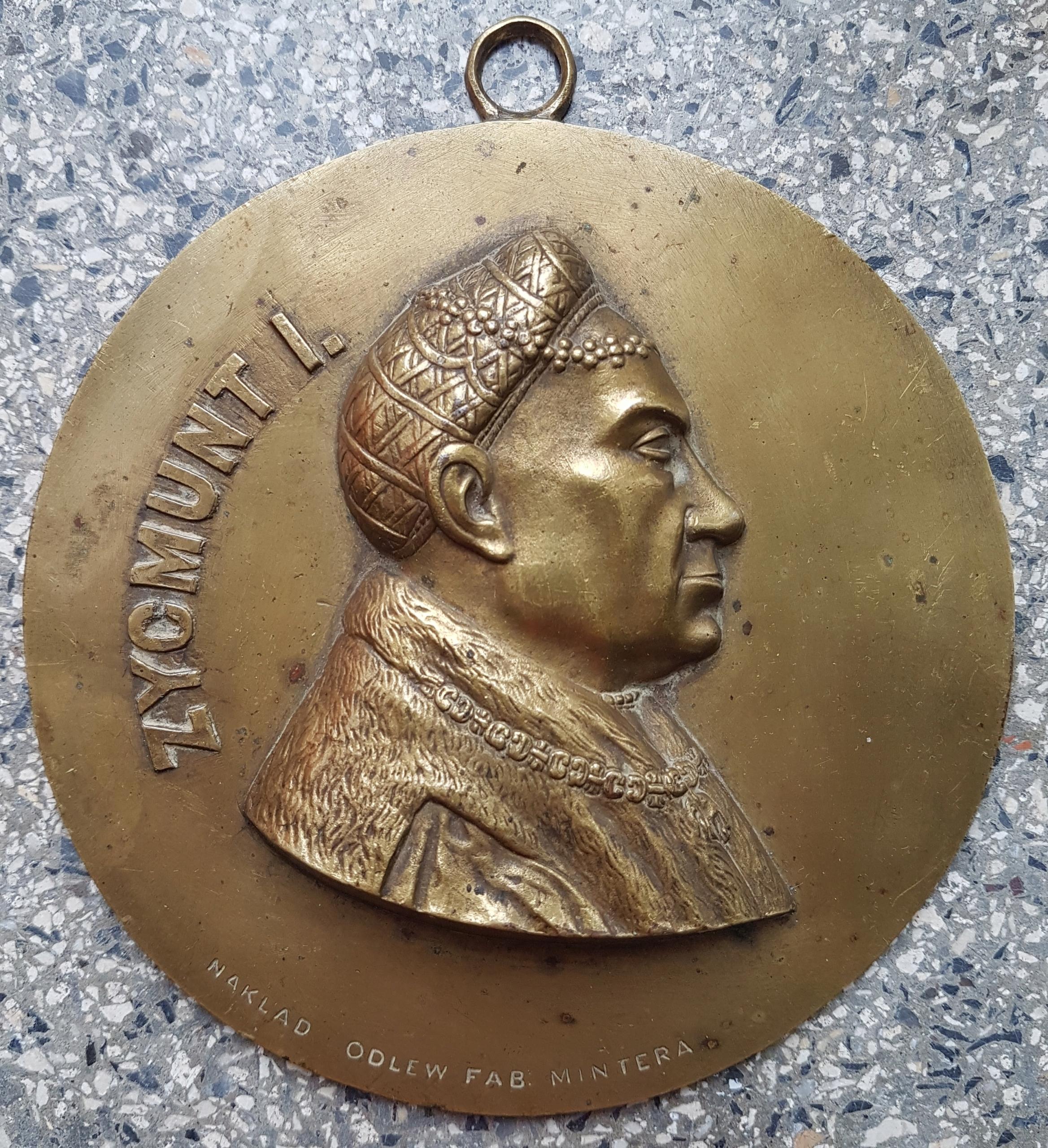 Król Zygmunt Stary Minter Plakieta Medalion
