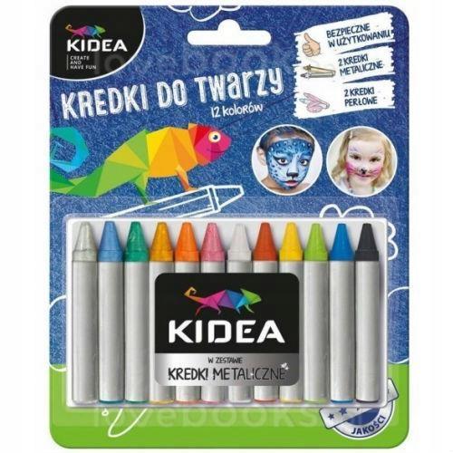 Kredki do malowania twarzy Kidea 12 kolorów