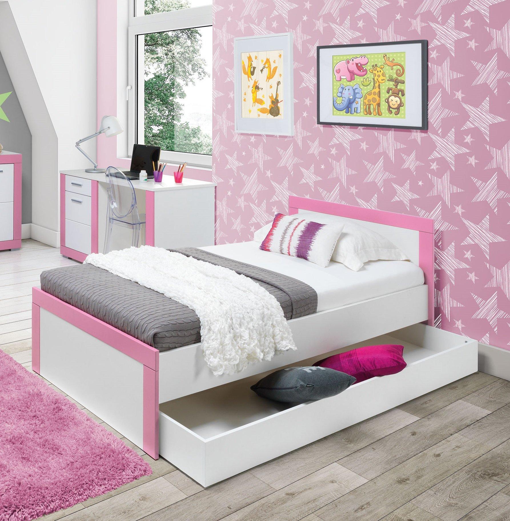 Dzięwczęce Wygodne łóżko Z Pojemnikiem Fuksja Róż