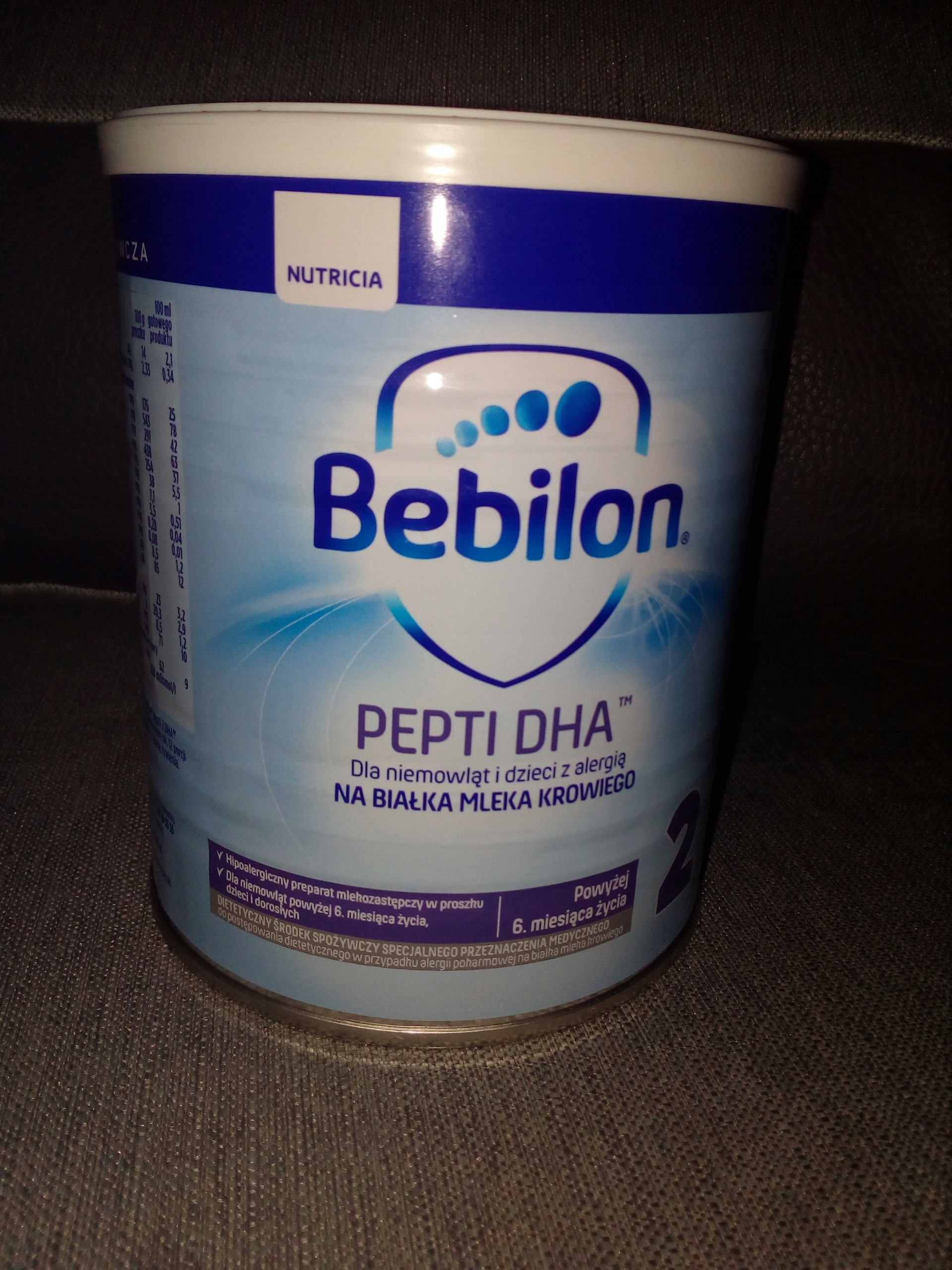 mleko bebilon pepti dha 2 400 g - alergia