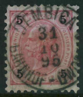 Dembica 1896 r - stempel na zn.austryjackim