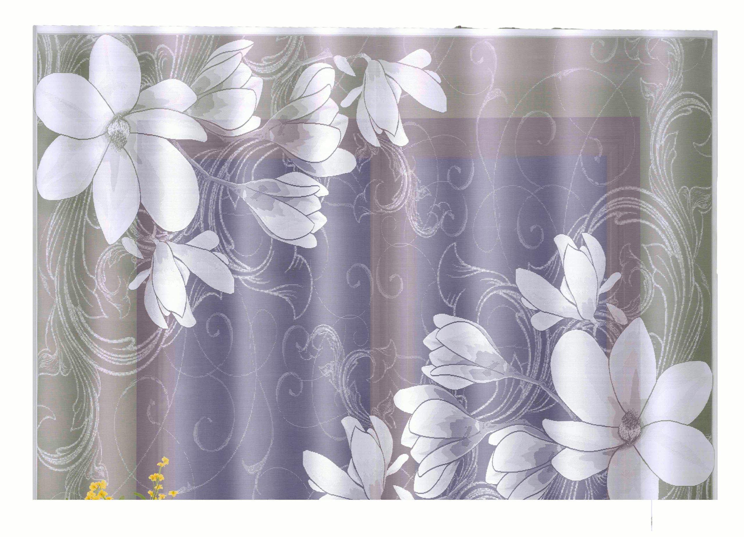 Firanki Magnolia Firanka 160x230 Kwiat Ig335 Wisan