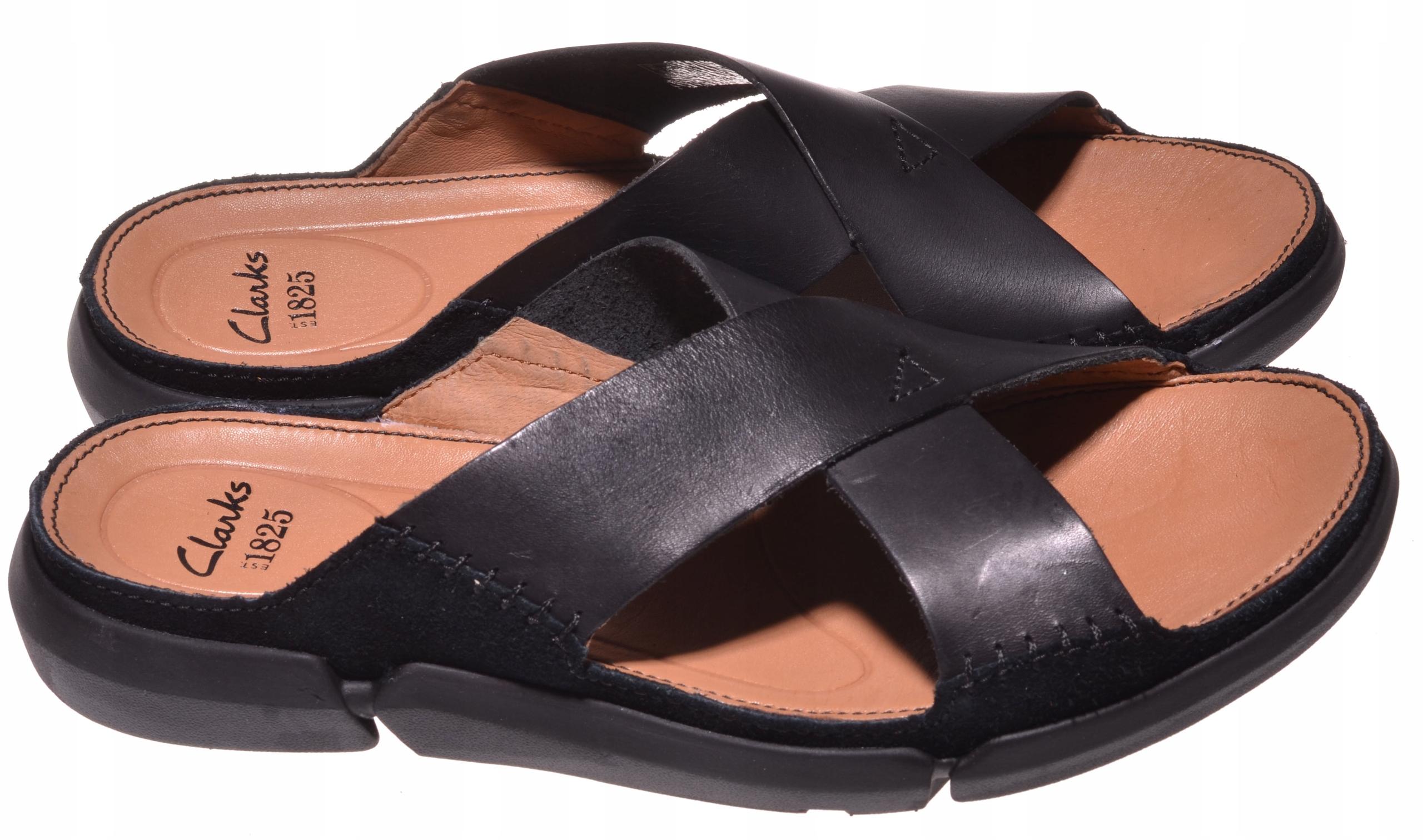 KLAPKI CLARKS TRISAND CROSS Black Leather 40