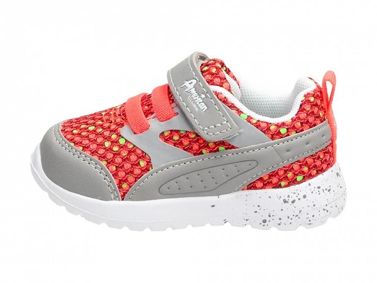 Sportowe buty dziecięce AMERICAN CLUB 3818LTGR r21