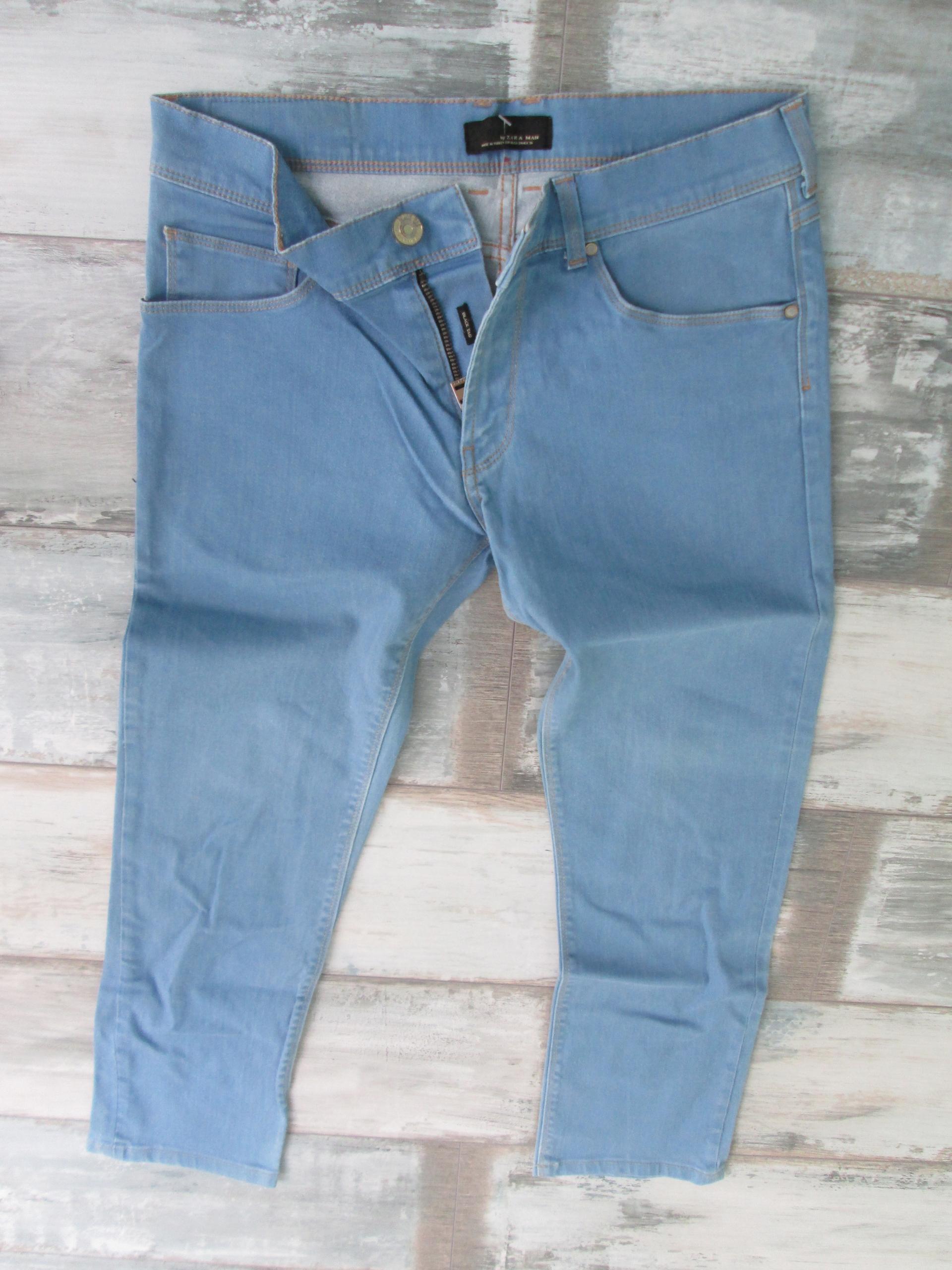 ZARA__skinny rurki jeans męskie STRETCH__W31L30 40
