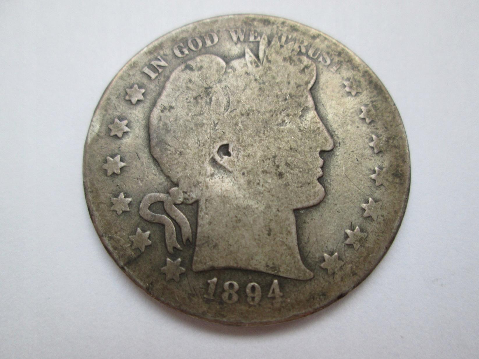 1/2 DOLARA 1894r.(S)BARBER