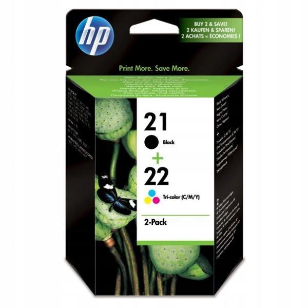 HP oryginalny ink SD367AE, HP 21 + HP 22, black/co
