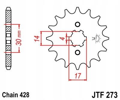 Zębatka przednia JT 13 zębów