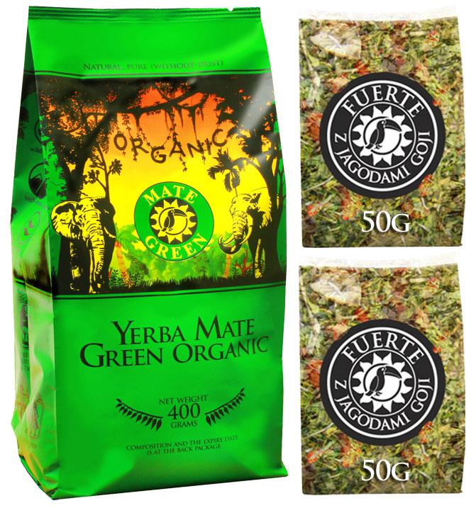 Yerba Mate Green ORGANIC + GINKO FUERTE 100g 0,5Kg