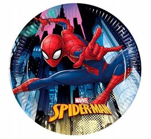Talerzyki papierowe Spiderman Team Up 20 cm, 8 szt