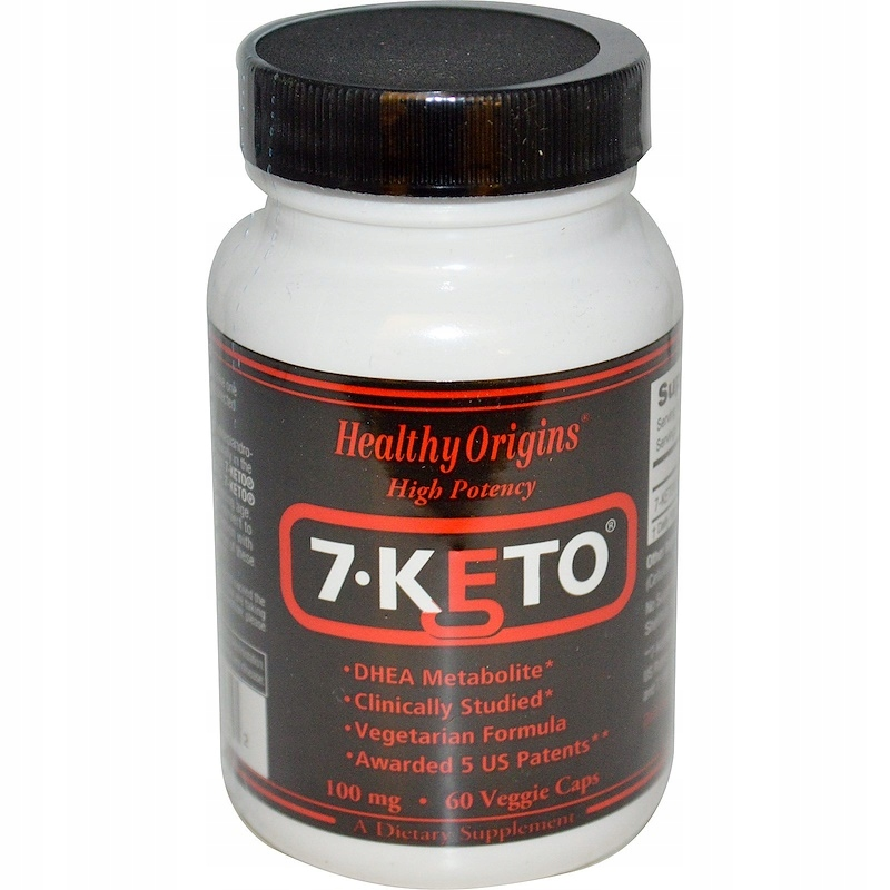 Healthy Origins 7-Keto 100 mg, 60 vege kaps