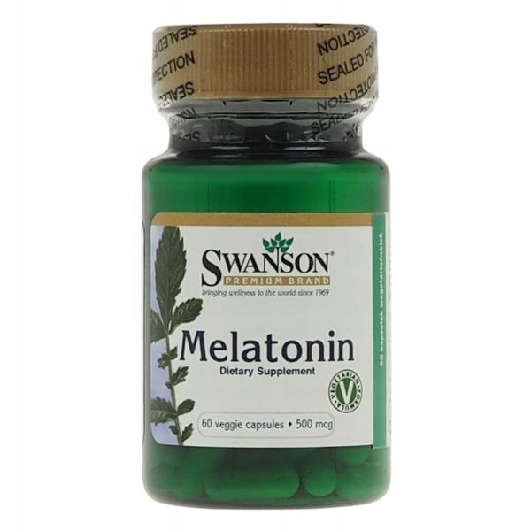Swanson Melatonin (Melatonina) 500mcg - 60 kaps.