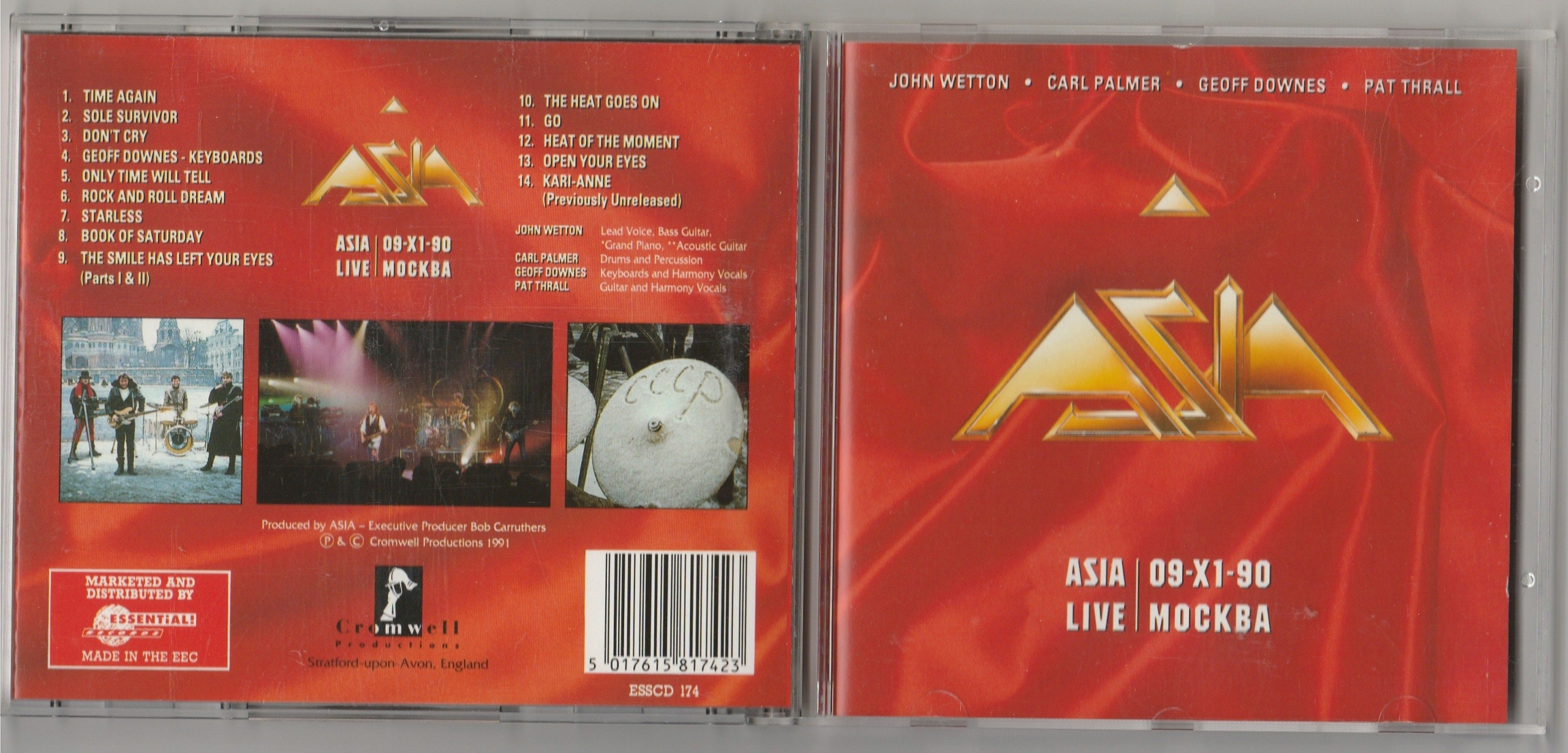 ASIA Live Moscow 09-XI-90 CD 1991 Cromwell UK
