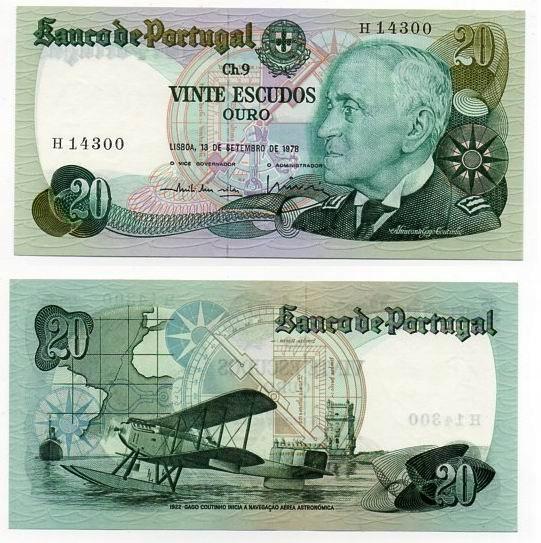 PORTUGALIA 1978 20 ESCUDOS