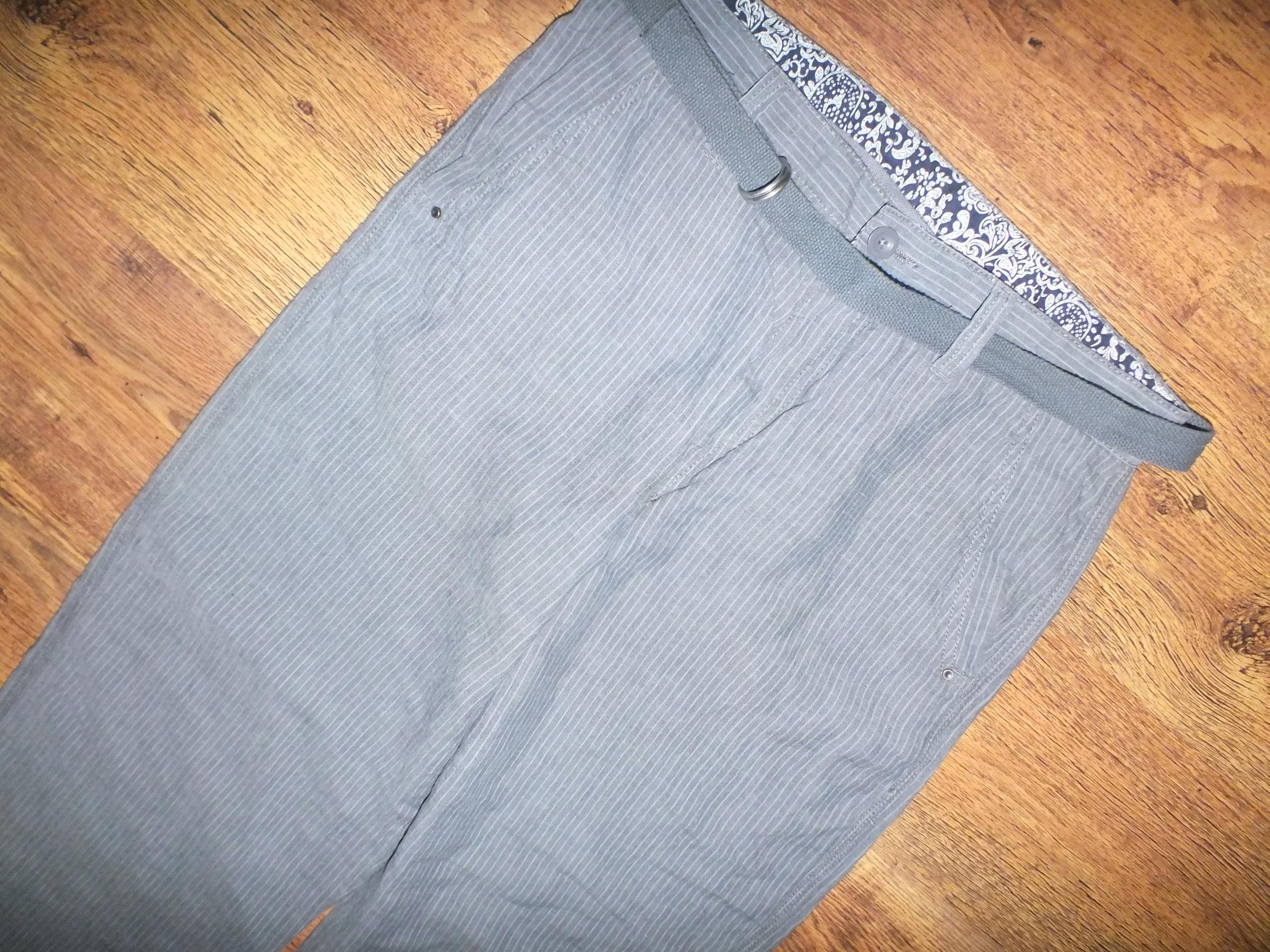 Next męskie Spodnie bawełniane z lnem r. 34
