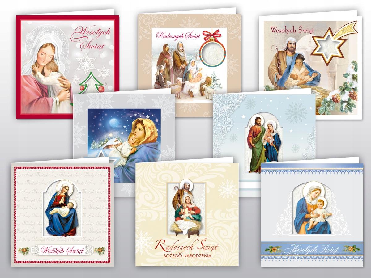 Kartka religijna Boże Narodzenie z opłatkiem