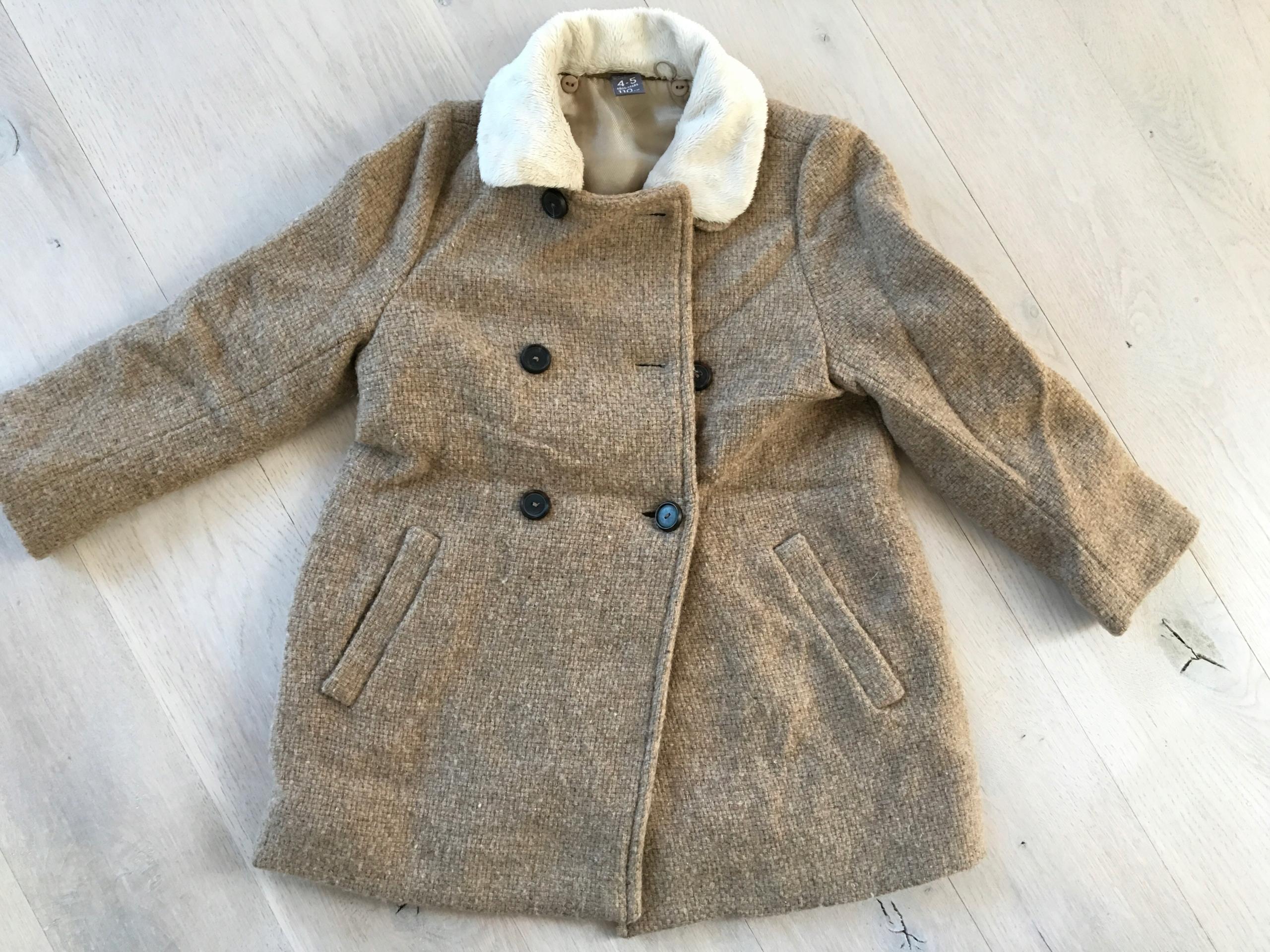 welniany płaszczyk Zara Kids 4-5lat 110cm jak nowy