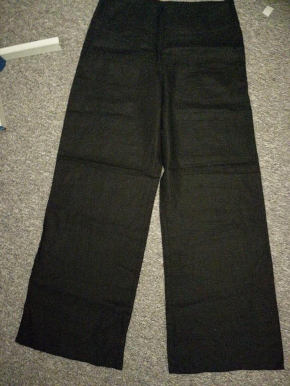 H&M czarne lniane spodnie nowe r. 4