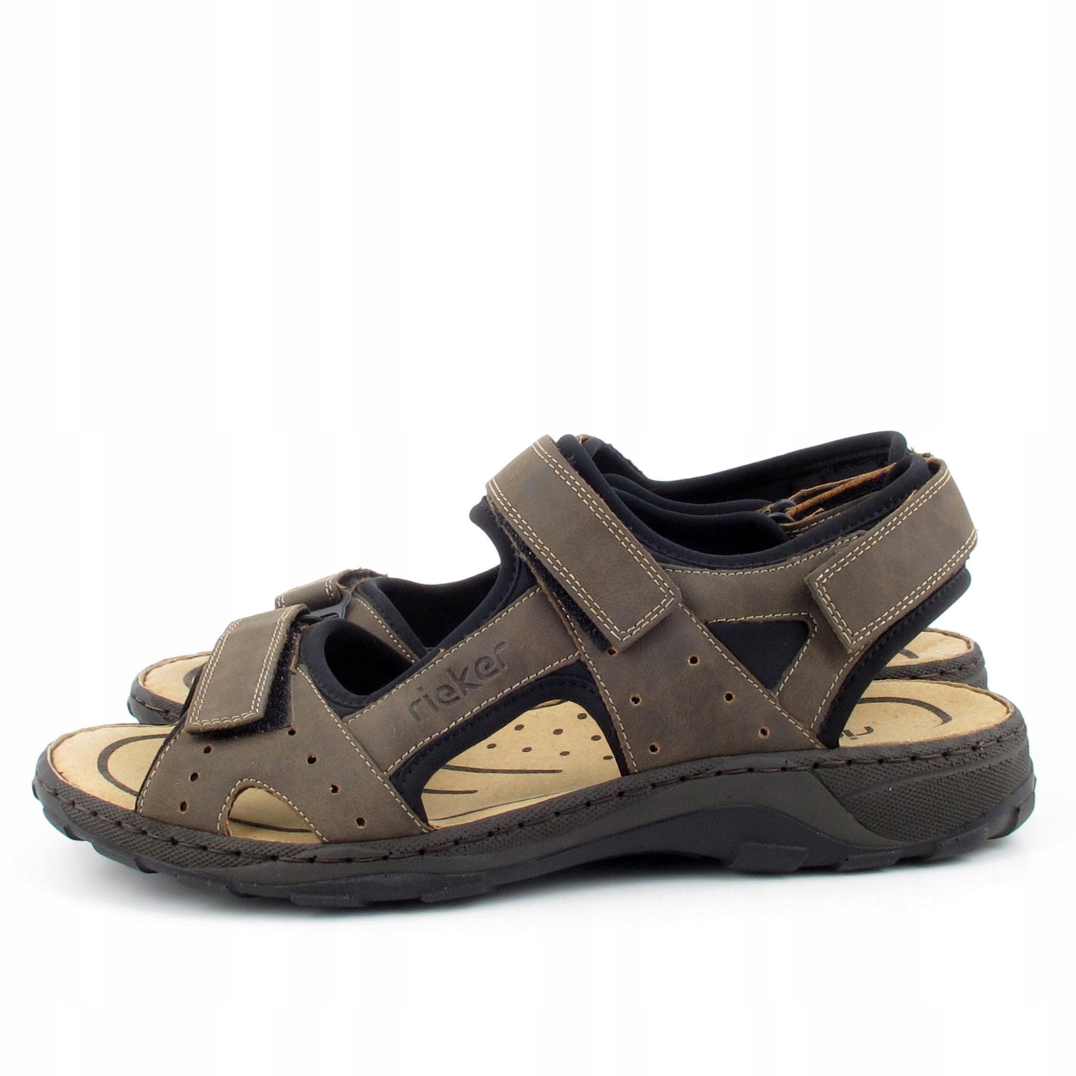 RIEKER 26062 brązowe sandały rozm 46