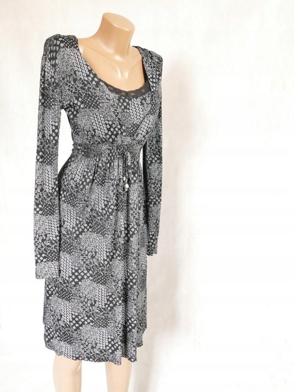 Sukienka wzory wiązana 40 L