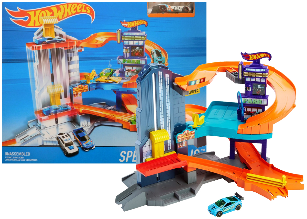 Tor Hot Wheels Wielki Garaż Winda Auto Mattel 7272570992