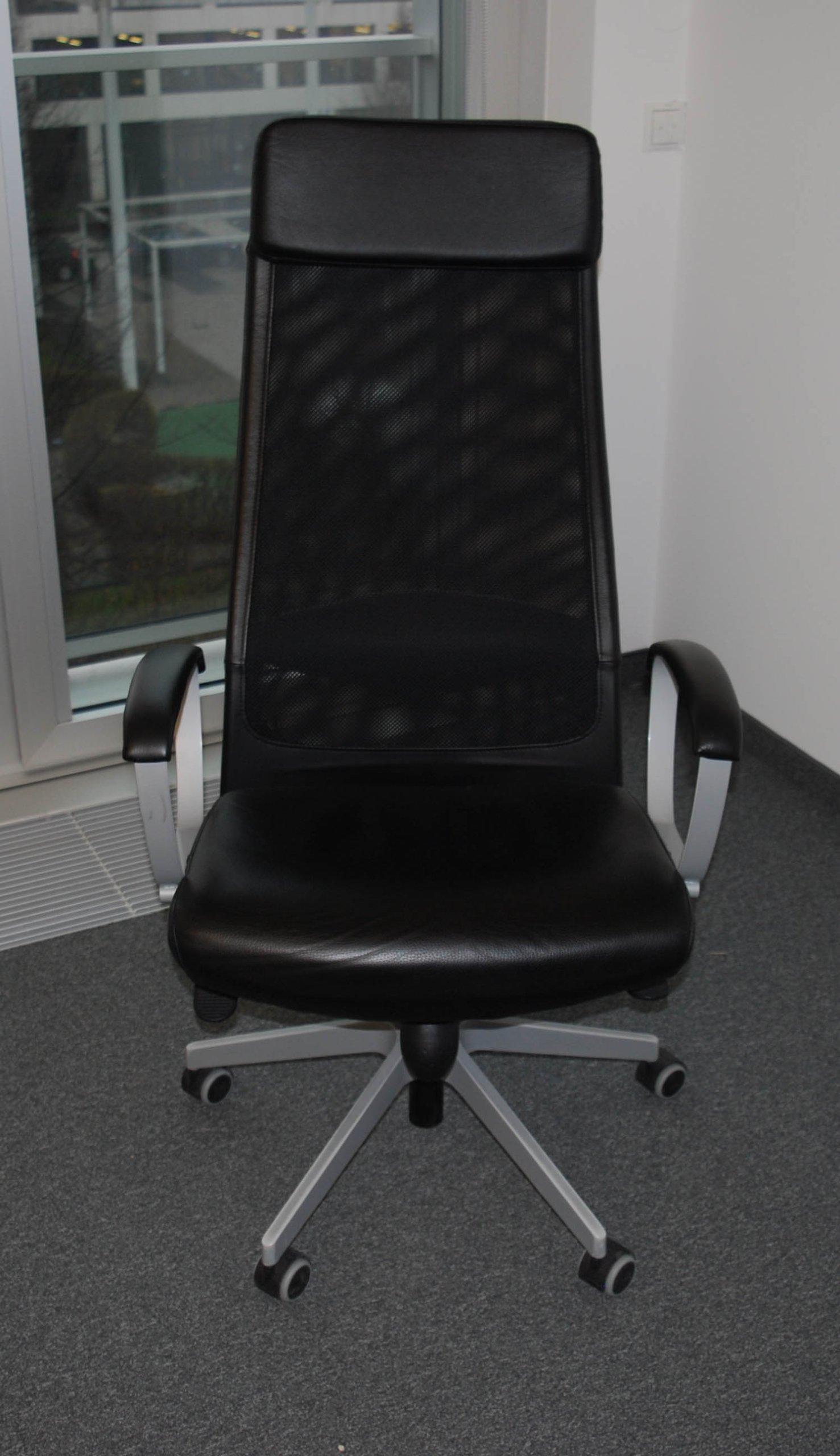 Fotel Biurowy Ikea Markus Skóra Skórzany Skórkowy 7294807973