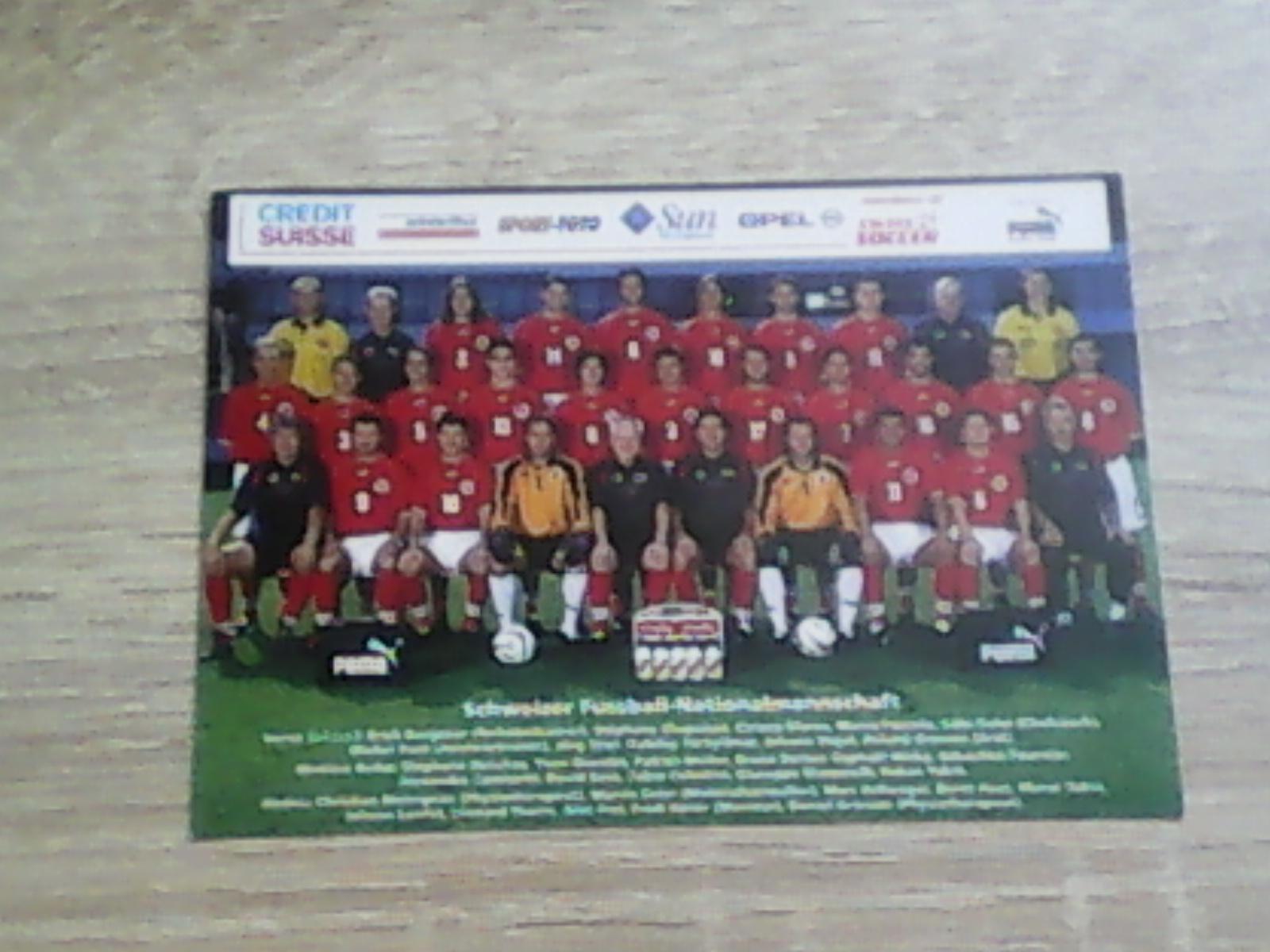 Piłka nożna - fotos zespołu Szwajcaria