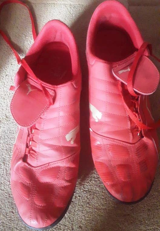 sportowe czerwone buty korki męskie piłka nożna 46