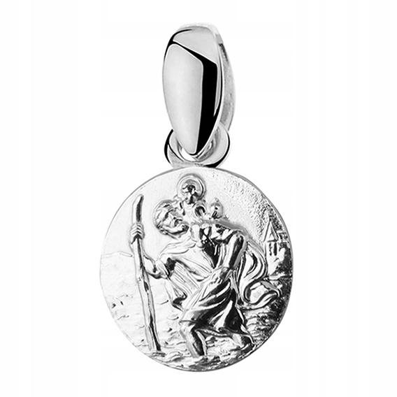 Medalik Święty Krzysztof dla kierowcy srebro 925